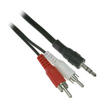 6ft 3.5mm Stereo Male to RCA Stereo Male Audio Adapter Cable