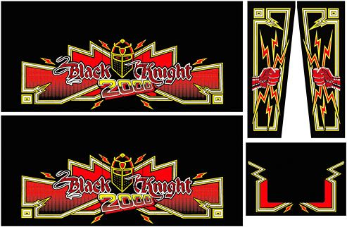Cabinet Decals - Black Knight 2000