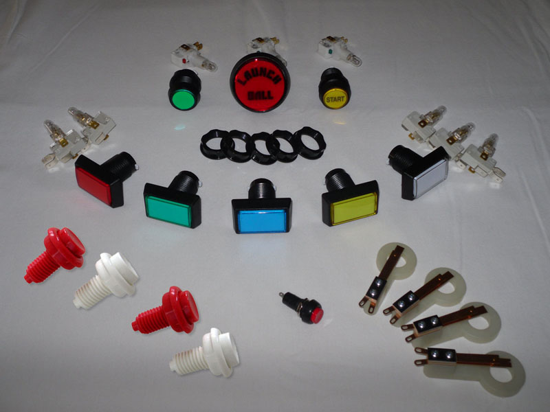 Ultimate Cab-Builder's Button Kit Pinball Parts [ButtonKit ...