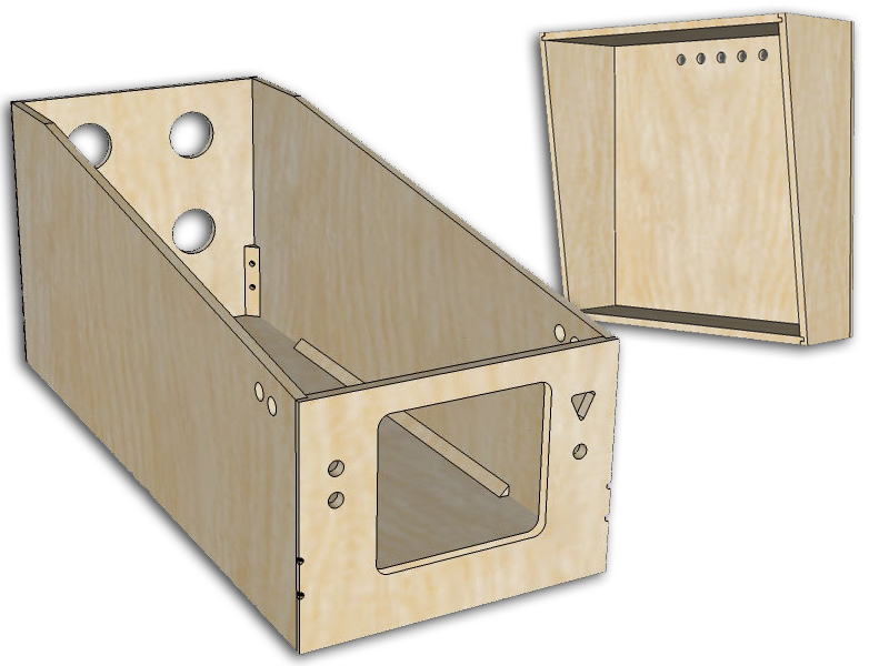 WPC-style Standard Body Virtual Pinball Cabinet - Unfinished