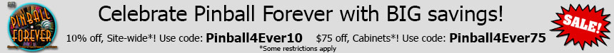 Pinball Forever Sale!