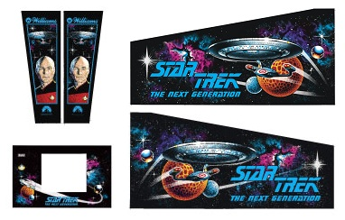 Cabinet Decals - Star Trek: The Next Generation
