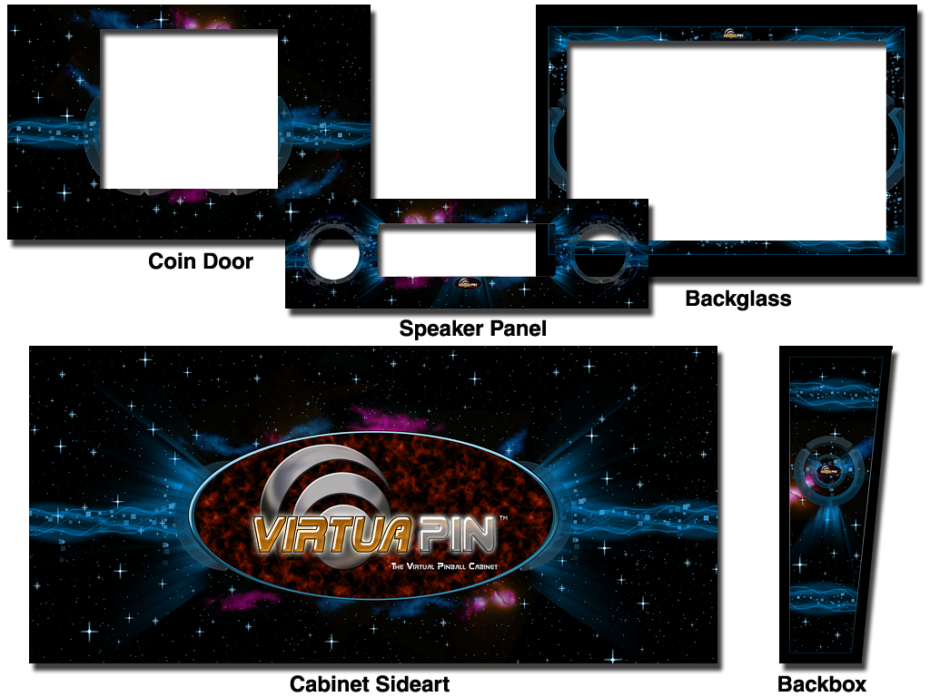Cabinet Decals - VirtuaPin™ Space Theme