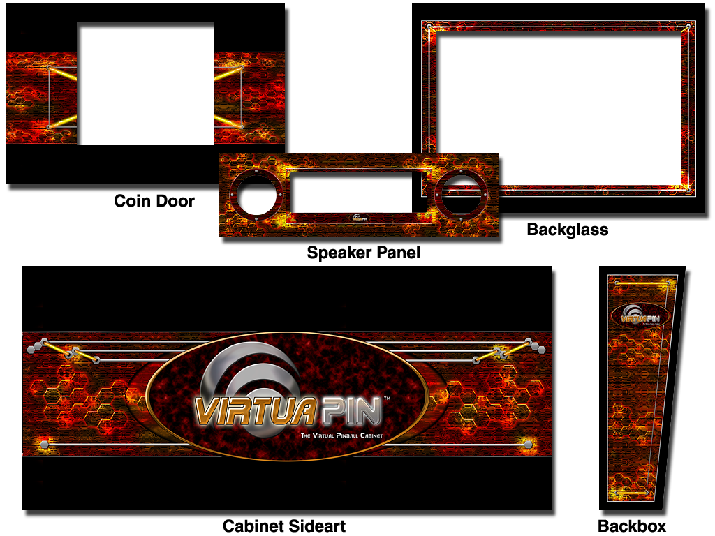 Cabinet Decals - VirtuaPin™ High Energy Theme