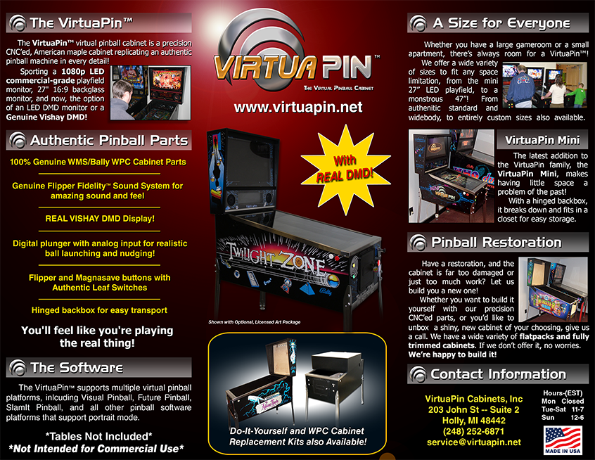 Welcome to the VirtuaPin Store!